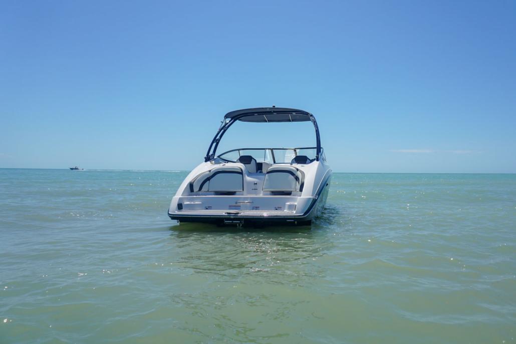 Backside Yamaha jet boat